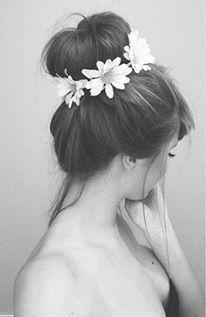 Beautiful bun with flowers