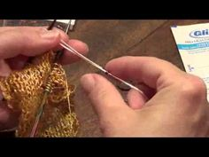 Lost City Knits - Beading Tutorial with dental floss - YouTube
