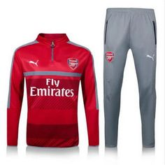 Camiseta entrenamiento Arsenal manga larga rojo 2017 Arsenal Football Club 364eac527fb80