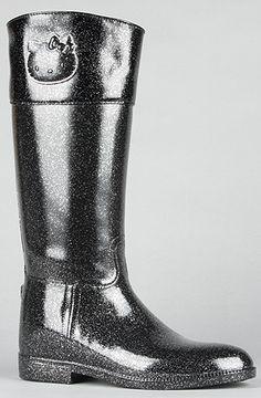 Hello Kitty Footwear The Angelina Rain Boot in Black : Karmaloop.com - Global Concrete Culture