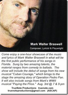 Mark Walter Braswell to perform 'Braswell's Songbook' Sunday night at Cabaret South Beach