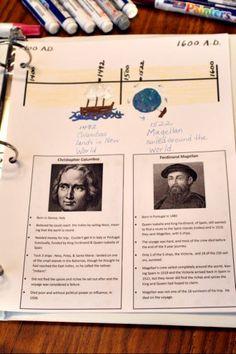 American History Timeline notebook