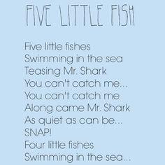 Fishy Songs - Perfect for OCEAN week