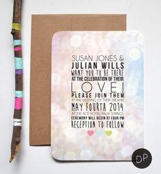Colorful Wedding Invitation // DAYDREAMPRINTS