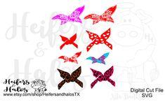 bandanas digital cut files svg pdf png eps dxf studio3