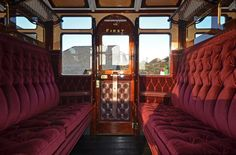 vintage railway carriage interior - Google Search