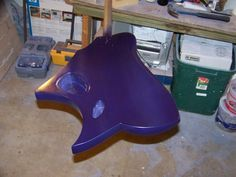 Purple base coat sprayed