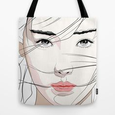 Under The Mask Tote Bag by SEVENTRAPS | Society6