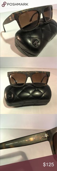 CHANEL Sunglasses Chanel 5333. Rectangle frames with textured matte finish.  Gently used with no visible blemishes.  Case included. 100% authentic. CHANEL Accessories Sunglasses