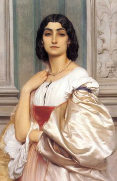 Frederic Leighton: A Roman Lady (La Nanna)_(1858-1859)