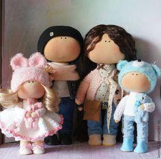 Купить Семья - комбинированный, кукла ручной работы, кукла, кукла в подарок, кукла интерьерная