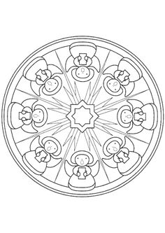 coloring page Mandala Christmas on Kids-n-Fun. Coloring pages of Mandala Christmas on Kids-n-Fun. More than coloring pages. At Kids-n-Fun you will always find the nicest coloring pages first! Batman Coloring Pages, Cool Coloring Pages, Mandala Coloring Pages, Christmas Coloring Pages, Coloring Pages For Kids, Coloring Sheets, Coloring Books, Food Coloring, Christmas Mandala