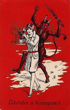 krampus13 | Vintage Austrian postcard | Michael Doyle | Flickr