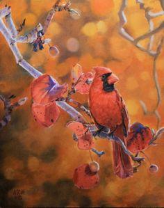 Superbe peintures d'oiseaux