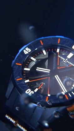 The limited edition Ulysse Nardin Diver X Skeleton is an explosive fusion between the sporty design of a Diver and technical prowess of the Executive Skeleton. Available in Supercharged Orange or Ocean Blue. 175 pieces each, worldwide.  #diverxskeleton #ulyssenardin #verticalodyssey #osterwatches Unique Diamond Engagement Rings, Limited Edition Watches, Leaf Pendant, Skeleton, Jewelry Stores, Sporty, Ocean, Jewels, Orange