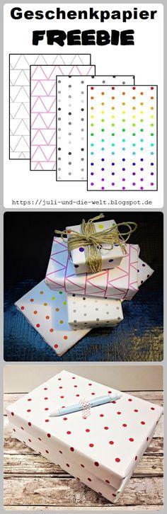 Free Wrapping Paper / Gratis Geschenkpapier Printable by https://juli-und-die-welt.blogspot.de