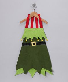 Take a look at this Elf Apron - Kids by Domestic Goddess: Aprons & Dishtowels on #zulily today!