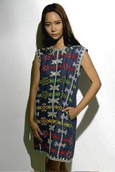 T'boli embroidery on denim by Filip + Inna.  LOve this dress