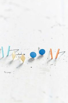 Geo Color Stud Earring Set | Urban Outfitters
