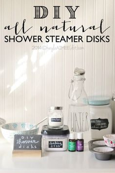 DIY Shower Disks- great to add to a steamy shower to help a stuffy nose!