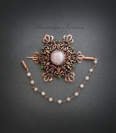brooch with pink quartz by nastya-iv83 on DeviantArt