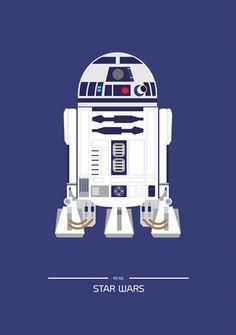 Star Wars (1977) ~ Minimal Movie Poster by David O'Mara #amusementphile