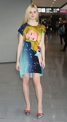 Elle Fanning in Sleeping Beauty Dress (Tokyo)