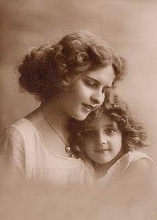 Sweet vintage portrait of two sisters