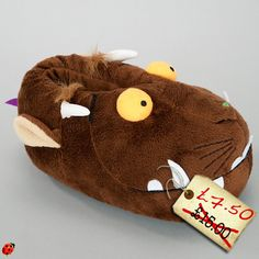 Child's Gruffalo slippers. Complete with big yellow eyes and sharp teeth. Half price at John Lewis. Need I say any more than that?