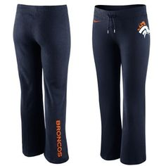 Nike Denver Broncos Women's Tailgater Fleece Pants - Navy Blue