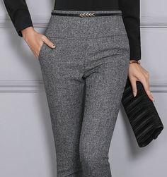 2017新しい作業摩耗制服用女性オフィス鉛筆パンツ用女性ストレートフレアスリムオール正式なズボン4xlプラスサイズ黒