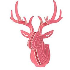 A.B Crew Vintage Style DIY 3D Puzzle Deer Head Wall Hanging Decor