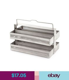 Tools Laboratory 60 Positions Microbiology Applications Stainless Steel Staining Rack #ebay #Fashion