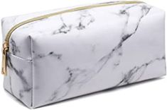 Marble Makeup Bag, Lightweight Portable Cosmetic Bags Pouch for Women for Make Up Brushes PU Leather Travel Storage Toiletry Organiser Outdoor for Girl Ladies