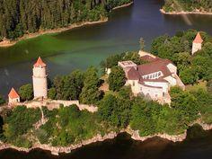 Zvíkov castle, Czech Republic Romantic Places, Beautiful Places, Kingdom Of Bohemia, Fortification, Central Europe, Czech Republic, Prague, Cathedral, Vacation