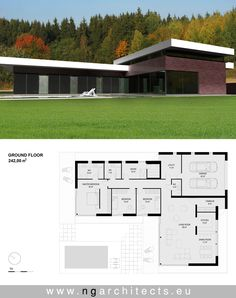 modern house plan designed by NG architects www.ngarchitects.eu