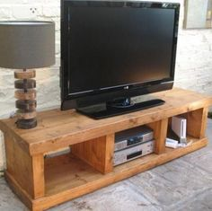 """""""any size made"""" SOLID WOOD ENTERTAINMENT UNIT TV STAND CABINET RUSTIC PLANK PINE in Home, Furniture & DIY, Furniture, TV & Entertainment Stands 