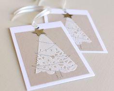 Tarjetas decoradas con blondas de papel…