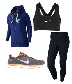 """Workout!!"" by itsmaddiex ❤ liked on Polyvore featuring NIKE"