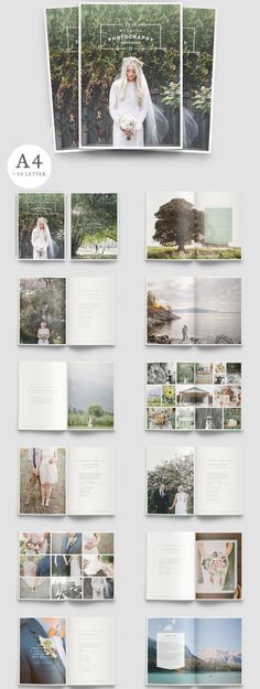 W A N D E R E R S A beautiful multipurpose brochure for photographers! Clean, modern and fully customisable. Ideal for wedding photography packages, #photography services price lists, personal or professional #folios or product #brochures.