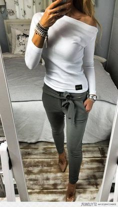 Sommer Outfit 2019 - NEUE MODE - casual outfits for work with jeans best outfits Fall Outfits For School, Casual Fall Outfits, Outfits For Teens, Casual Winter, Casual Summer, Summer Outfits, Grunge Outfits, College Outfits, Casual Work Clothes
