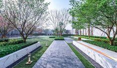 (香港/深圳)译地事务所 eLandscript Limited – 景观设计师 - 谷德设计网 Landscape Architecture, Landscape Design, Chengdu, Walkway, Condo, Sidewalk, Mansions, Photography, Parks