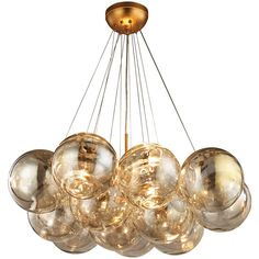 Cielo 3 Light Chandelier In Antique Gold Leaf design by BD Fine ($1,437) ❤ liked on Polyvore featuring home, lighting, ceiling lights, chandeliers, three light, semi flush mount lighting, semi flush mount chandelier, 3 bulb lamp y semi flush lighting