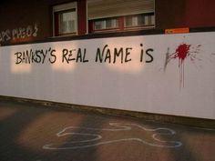 Banksy, funny, and graffiti image Banksy Graffiti, Arte Banksy, Graffiti Images, Street Art Banksy, Bansky, Urban Graffiti, True Identity, Foto Art, Street Art