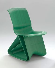 Dirk Vander Kooij's Endless Flow Rocking Chair (2011) was made by a robotic arm.