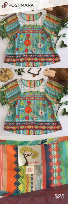 ❤Anthropologie Top❤ ❤in good used condition Anthropologie top by Fig and Flower in size Medium❤ Anthropologie Tops