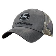 b4981e7c049223 Structured waxed twill camo cap with John Deere Trademark Logo embroidered  on…