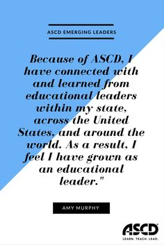 ASCD is committed to engaging a diverse community and building capacity to improve learning, teaching, and leadership. In its quest to build capacity, ASCD has designed the Emerging Leaders program to prepare younger, diverse educators for potential influence and ASCD leadership. A new cadre of emerging leaders is selected annually.