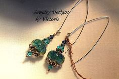 Stunning Sterling Silver  Lampwork EarringsOOAK by fa2756 on Etsy, $19.99