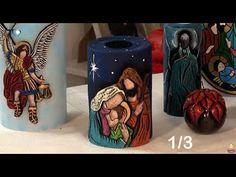 Paso a Paso. Programa 63. Velas Navideñas talladas 1/3 - YouTube Christmas Deco, Xmas, Catholic Crafts, Candels, Clay Art, Hand Carved, Carving, Diy, Youtube